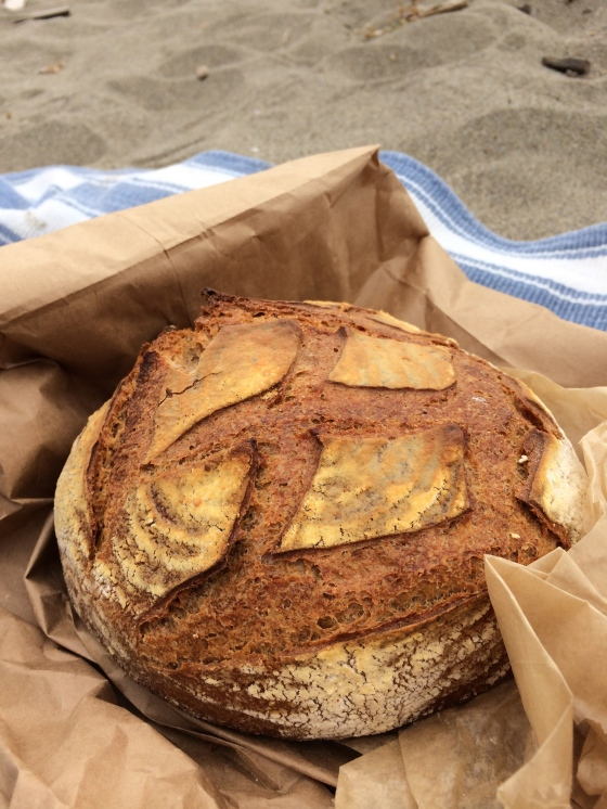 bread at the beach with the boy… what more do you want?